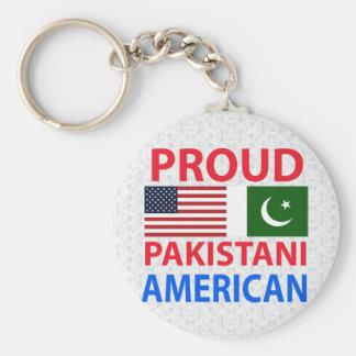 Americano paquistaní orgulloso llaveros personalizados