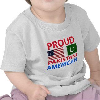 Americano paquistaní orgulloso camisetas