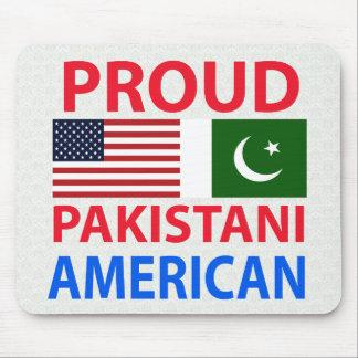 Americano paquistaní orgulloso tapete de ratón