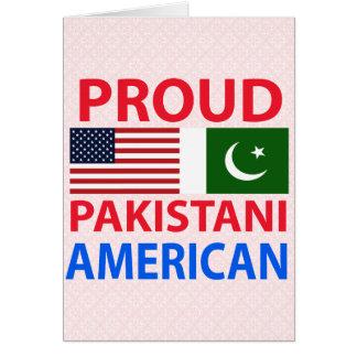 Americano paquistaní orgulloso felicitacion