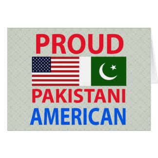 Americano paquistaní orgulloso tarjetón