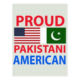 Americano paquistaní orgulloso tarjeta postal