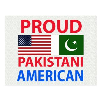 Americano paquistaní orgulloso tarjetas postales