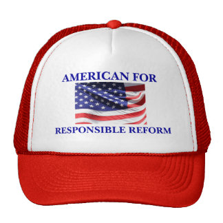 Americano para el casquillo responsable de la refo gorros bordados