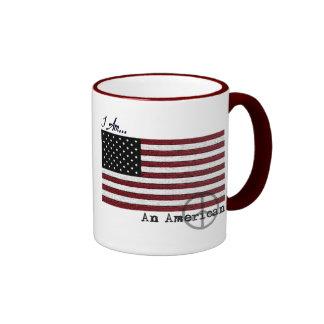 Americano para la taza de café de la paz