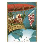 Americano pasado de moda Santa de los saludos de N Tarjetas Postales