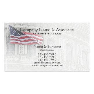 Americano patriótico del patriota del abogado del tarjeta de visita