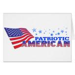 Americano patriótico felicitaciones