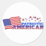 Americano patriótico pegatina redonda