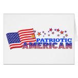 Americano patriótico tarjeta