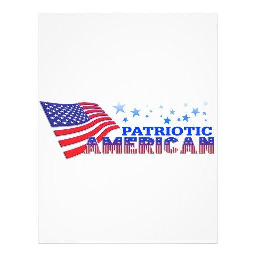 Americano patriótico tarjetas informativas