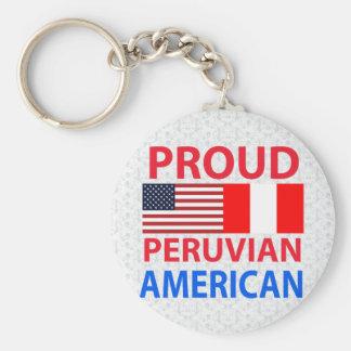 Americano peruano orgulloso llavero redondo tipo pin