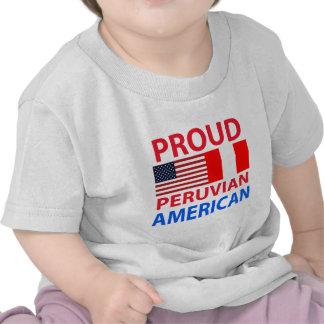 Americano peruano orgulloso camisetas