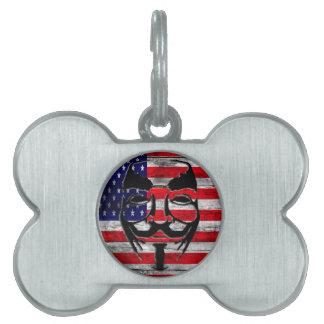 Americano Placas De Mascota