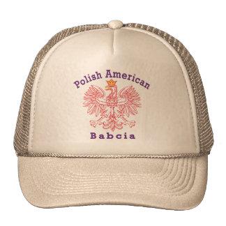 Americano polaco Babcia Gorros Bordados
