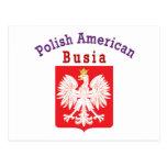 Americano polaco Busia Tarjetas Postales