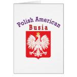 Americano polaco Busia Tarjeton