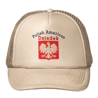 Americano polaco Dziadek Gorras De Camionero
