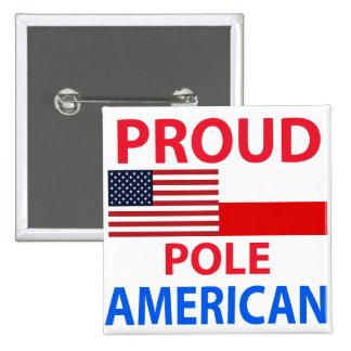 Americano polaco orgulloso pins