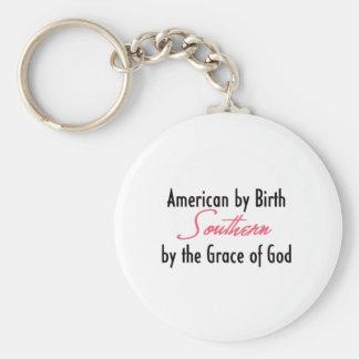 Americano por el nacimiento, meridional por la gra llaveros personalizados