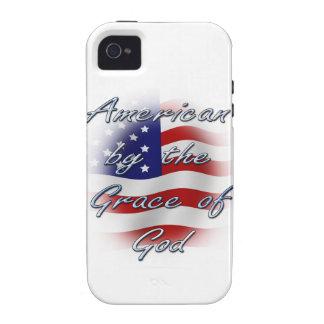 Americano por la gracia de dios iPhone 4 fundas