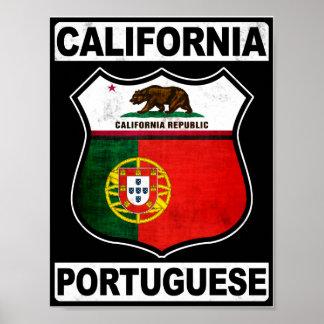 Americano portugués de California Póster