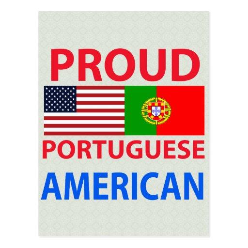 Americano portugués orgulloso postal