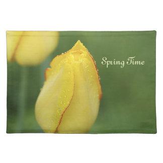 Americano precioso MoJo Placemat del tulipán Manteles Individuales