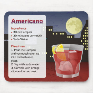 Americano Recipe Card Mouse Pad