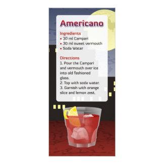 Americano Recipe Rack Card