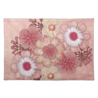 Americano rosado floral MoJo Placemats Manteles