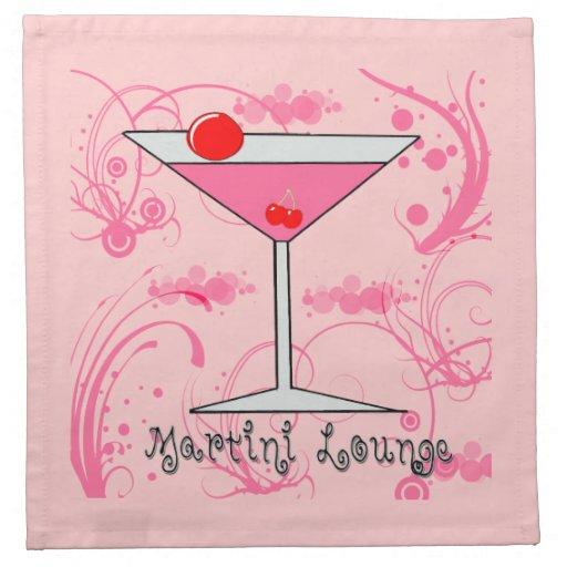 Americano rosado MoJo del paño de Martini - del sa Servilleta