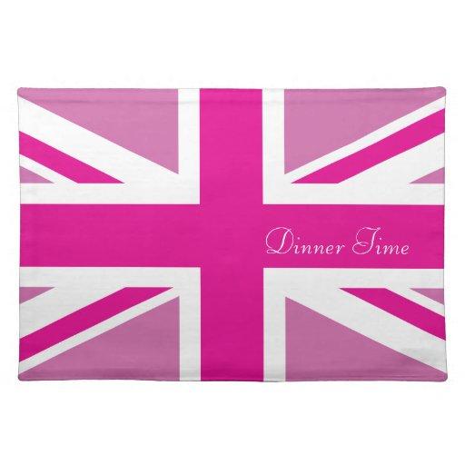 Americano rosado MoJo Placemat de Union Jack Manteles