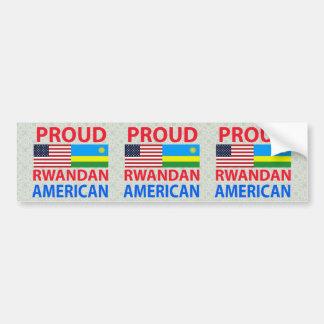 Americano ruandés orgulloso etiqueta de parachoque