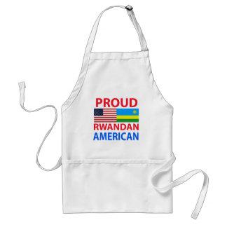 Americano ruandés orgulloso delantal