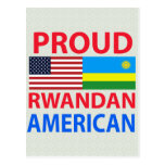 Americano ruandés orgulloso tarjetas postales