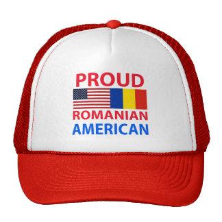 Americano rumano orgulloso gorras de camionero