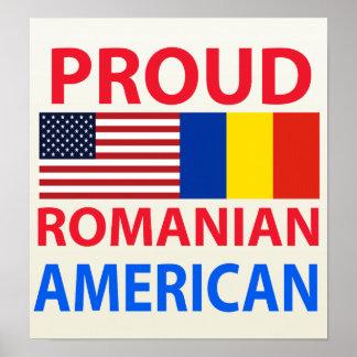 Americano rumano orgulloso poster