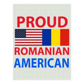Americano rumano orgulloso postal