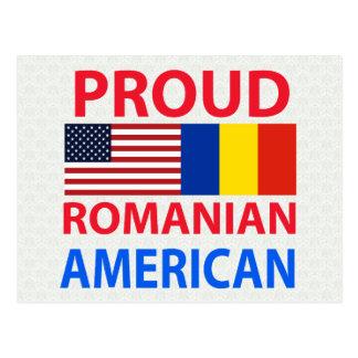 Americano rumano orgulloso tarjeta postal
