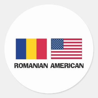 Americano rumano pegatina redonda
