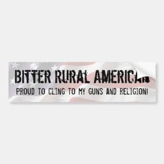 Americano rural amargo - aférrese en los armas y l pegatina para auto