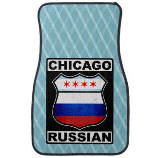 Americano ruso de Chicago Alfombrilla De Auto