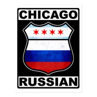Americano ruso de Chicago Postales