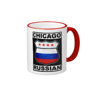 Americano ruso de Chicago Taza De Dos Colores