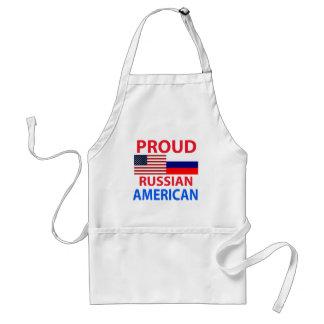Americano ruso orgulloso delantal