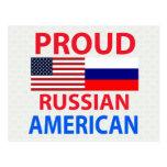 Americano ruso orgulloso postales