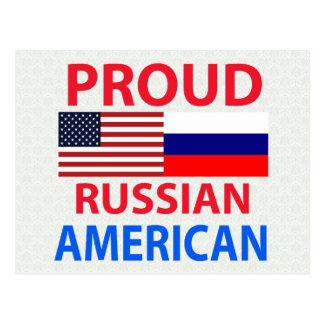 Americano ruso orgulloso postal