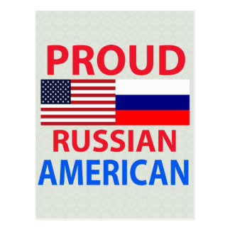 Americano ruso orgulloso tarjetas postales
