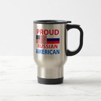 Americano ruso orgulloso tazas de café